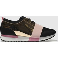Schuh Black & Pink Vlogger 3 Trainers