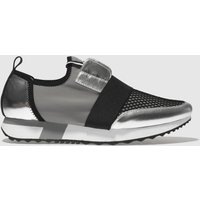 Schuh Silver & Black Finesse Trainers