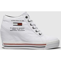 Tommy-Hilfiger-White-Wedge-Casual-Sneaker-Trainers
