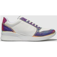 Schuh-White-and-Gold-Sonar-Trainers