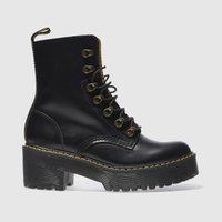 dr martens black leona 7 hook boot boots