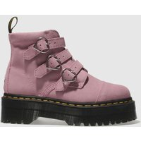 Dr Martens Pale Pink Buckle Boot Lazy Oaf Boots