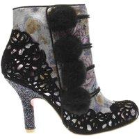 irregular choice black & silver slummber party boots
