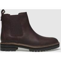 Timberland Burgundy London Square Chelsea Boots
