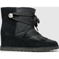 Ugg Black Classic Femme Lace Up Boots