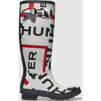 Hunter-White-and-Red-Orginal-Tall-Exploaded-Logo-Boots