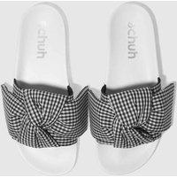 Schuh Black & White Bestie Slider Sandals