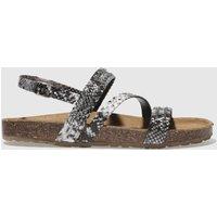 Schuh Black & White Cyclone Sandals