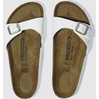 birkenstock white madrid patent sandals
