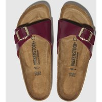 Birkenstock Burgundy Madrid Sandals