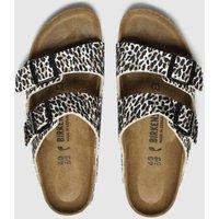 Birkenstock Brown & Black Leopard Print Arizona Sandals