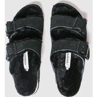 Birkenstock Black Arizona Shearling Sandals