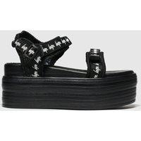 Hype Black Tape Flatform Sandals