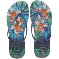 havaianas navy & green slim tropical sandals