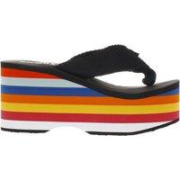 rocket dog black big top rainbow sandals