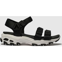 Skechers Black & White Dlites Fresh Catch Sandals