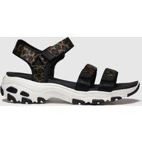 Skechers Black & Brown Dlites Fresh Catch Sandals