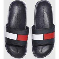Tommy Hilfiger Navy & White Flag Pool Slide Sandals