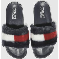 Tommy Hilfiger Navy Tj Funny Fur Pool Slide Sandals