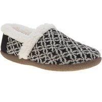 toms black & white house slippers
