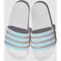Adidas White Adilette Sandals