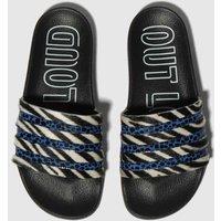 Adidas Black And Blue Adi Adilette Sandals