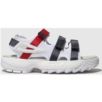 Fila White & Navy Disruptor Sandal Sandals