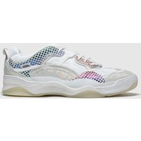 Vans White & Grey Varix Wc Glory Check Trainers