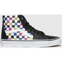 Vans Black & Pink Sk8-hi Glitter Checkerboard Trainers