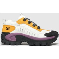 Catfootwear-White-and-Yellow-Intruder-Trainers
