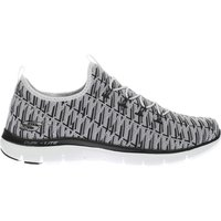 skechers white & black flex appeal 2.0 insights trainers