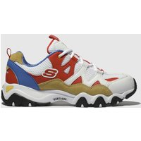 Skechers-White-and-Red-Dlites-2-0-One-Piece-Trainers