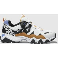 Skechers White & Gold Dlites 2.0 One Piece Trainers