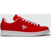 Adidas-Red-Stan-Smith-Trainers
