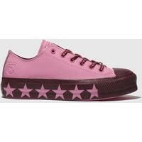 Converse Pink All Star Lift Ox X Miley Cyrus Trainers