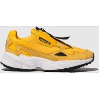 Adidas Yellow Falcon Zip Trainers