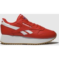 Reebok-Red-Classic-Leather-Double-Trainers