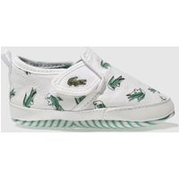 lacoste white & green gazon crib Baby Trainers