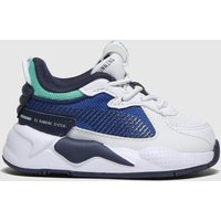 Puma White & Navy Rs-x Hard Drive Trainers Toddler