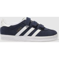Adidas Navy & White Gazelle Trainers Toddler
