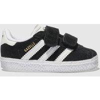 Adidas Black & White Gazelle Trainers Toddler