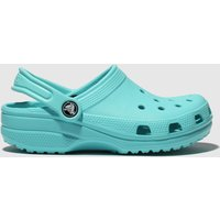 Crocs Turquoise Classic Clog Trainers Junior