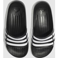 Adidas Black & White Duramo Slide Trainers Youth