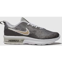 Nike Grey Air Max Sequent 4 Trainers Youth
