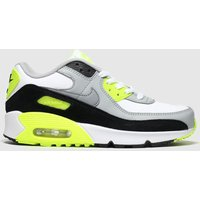 Nike White & Black Air Max 90 Ltr Trainers Youth