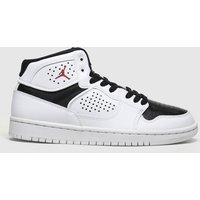Nike Jordan White & Black Access Trainers Youth