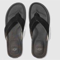 ugg black & white braven sandals