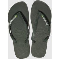 Havaianas Khaki Brasil Logo Sandals