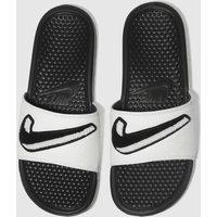 Nike Black & White Benassi Sandals