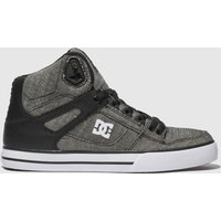Dc-Shoes-Grey-and-Black-Pure-Hightop-Wc-Tx-Se-Trainers